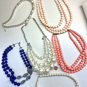 Fashion jewelry lot. Pink beads, giant pearls!